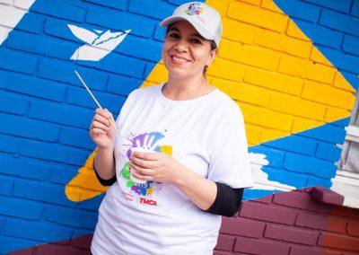 Colpatria Voluntaria YMCA muro