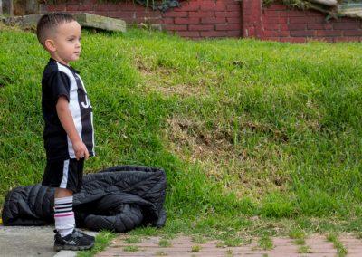 Niño futbolista Scotiabank Colpatria