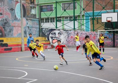 Play soccer with the YMCA Bogota