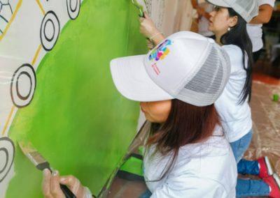 pintando Colpatria YMCA