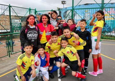 team soccer in Juan rey YMCA Bogota